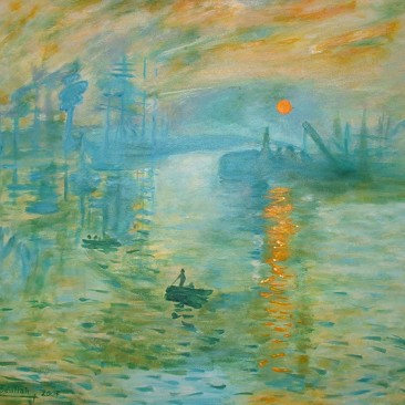 Monet's Sunset (Study)