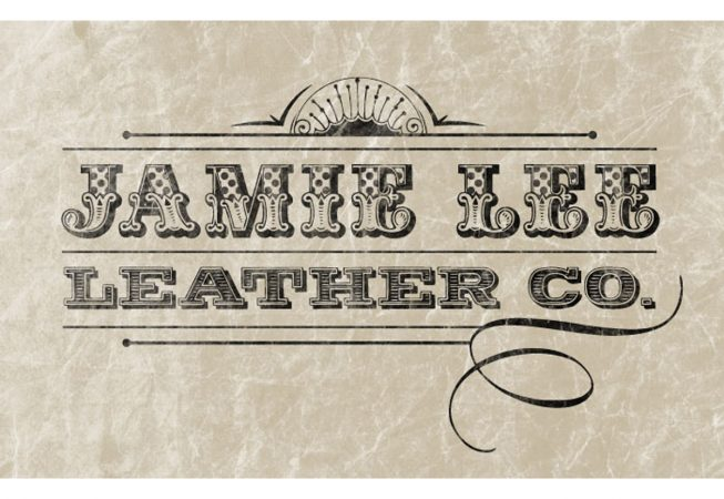 Logo and Branding: Depicts the hand-crafted quality and detailed tooling in her personalized leather-work.