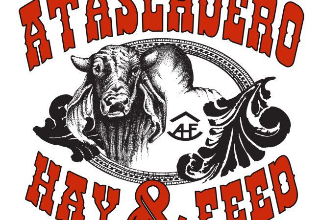Logo and Branding: Atascadero Hay and Feed portraying Brazilian Bull and brand