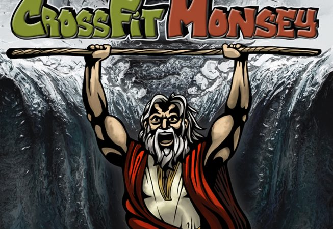 Logo and Branding: Moses parting the Red Sea. A New York Based CrossFit facility serving the Local Jewish community.