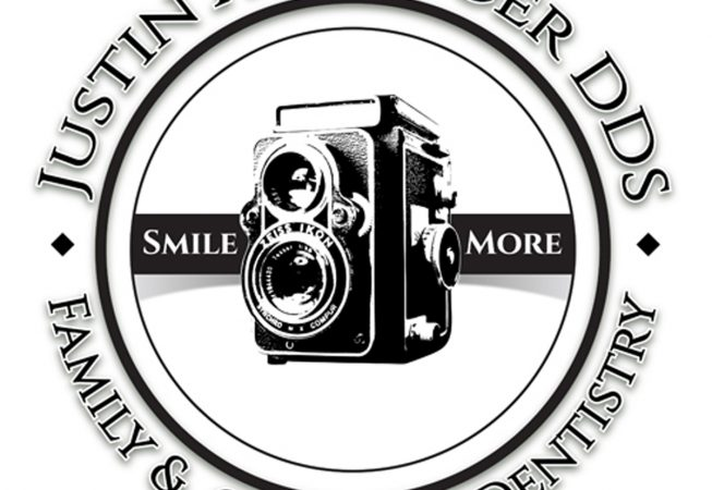 Logos and Branding: When you think of a good smile, you think of great teeth, and happy memories. Justin A Winger DDS Logo aimed to capture the connection while preserving the Owners' passion for antique cameras.