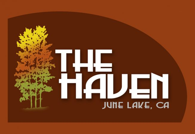 Logo and Branding: The small town of June Lake sits in the shadows of Mammoth Mountain...The Haven Lodge is a jewel of the sierras and truly a haven for snowboarders, hikers, fishermen, or just adventurers like myself.