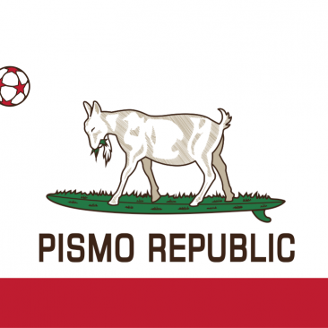 Pismo Republic – Surfing Goats – Logo Design