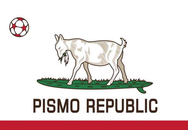 Pismo Republic-Surfing Goats- Logo Design by ishCreatives