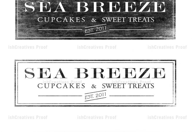 SeaBreeze Cupcakes and Sweet Treats - Logo Design by ishCreatives